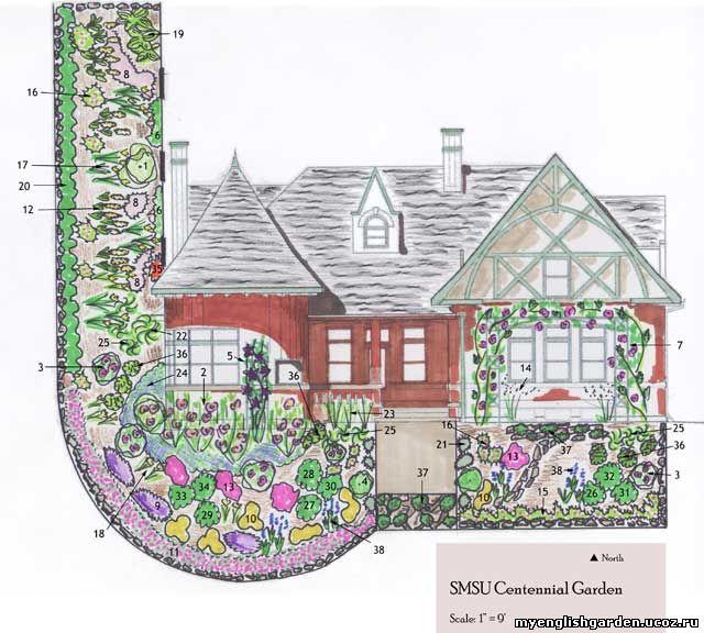 for Free rose garden designs